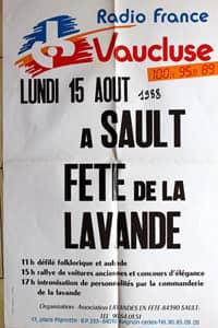 Fête de la lavande affiche 1988