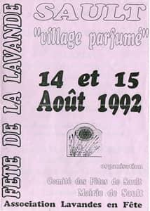 Fête de la lavande affiche 1992
