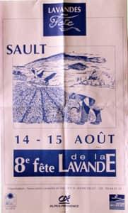 Fête de la lavande affiche 1993