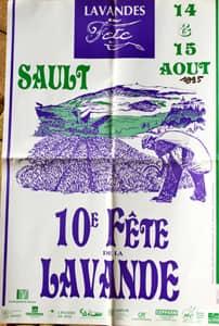 Fête de la lavande affiche 1995
