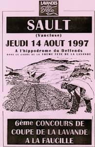 Fête de la lavande affiche 1997