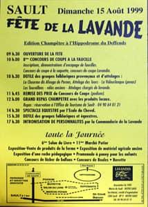 Fête de la lavande affiche 1999