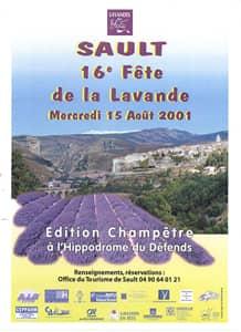 Fête de la lavande affiche 2001