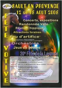 Fête de la lavande affiche 2005