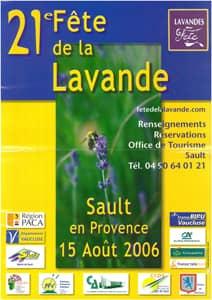 Fête de la lavande affiche 2006