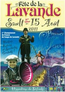 Fête de la lavande affiche 2011