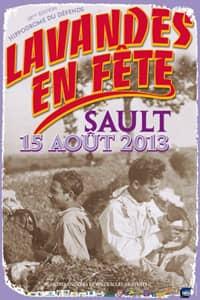 Fête de la lavande affiche 2013